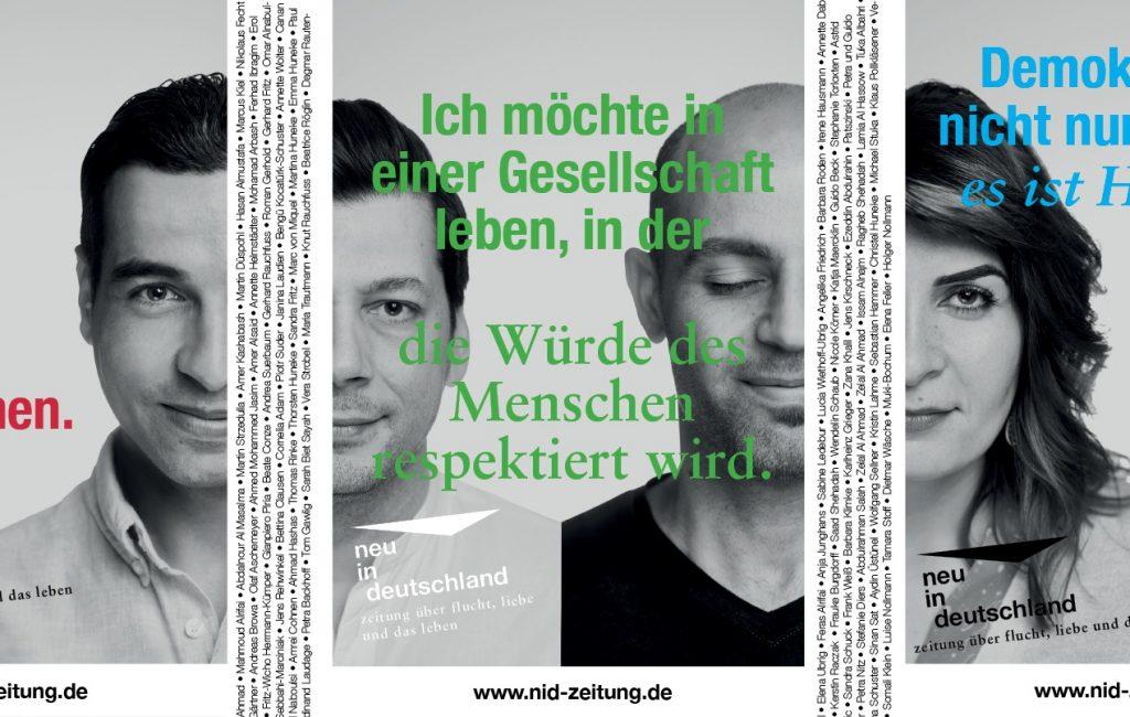 Plakat-Aktion für Demokratie