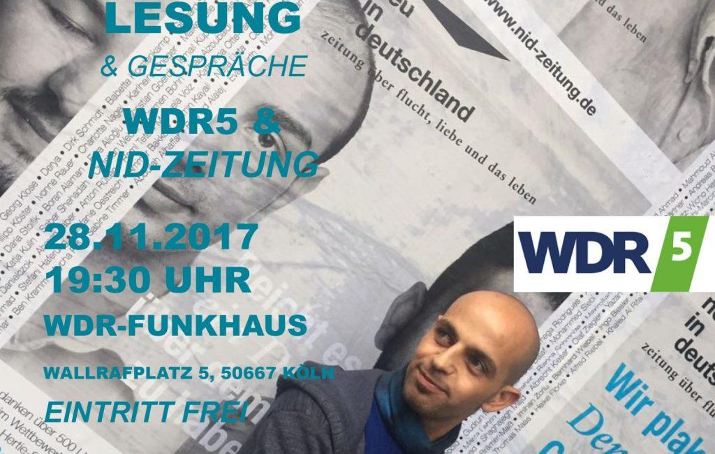 nid-Lesung im WDR in Köln