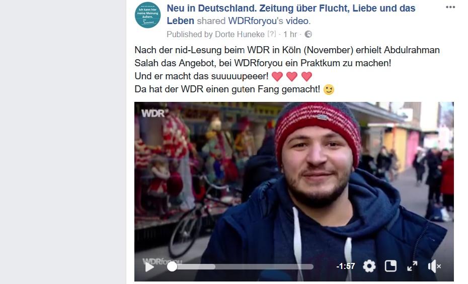 """Von der """"nid"""" zum WDR!"""