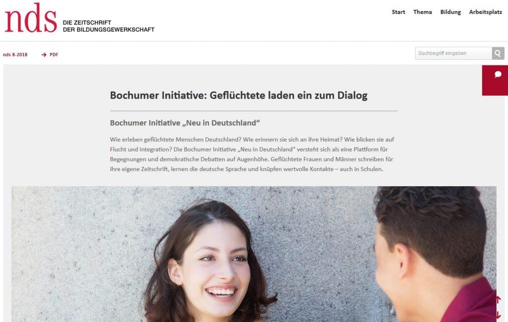 GEW-Magazin: nid-Texte als Unterrichtsmaterial